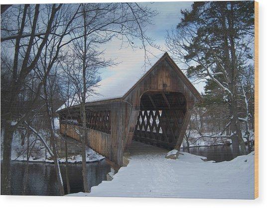 Henniker Covered Bridge Wood Print