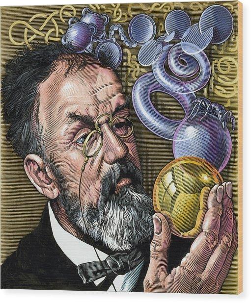 Henri Poincare, French Mathematician Wood Print by Bill Sanderson