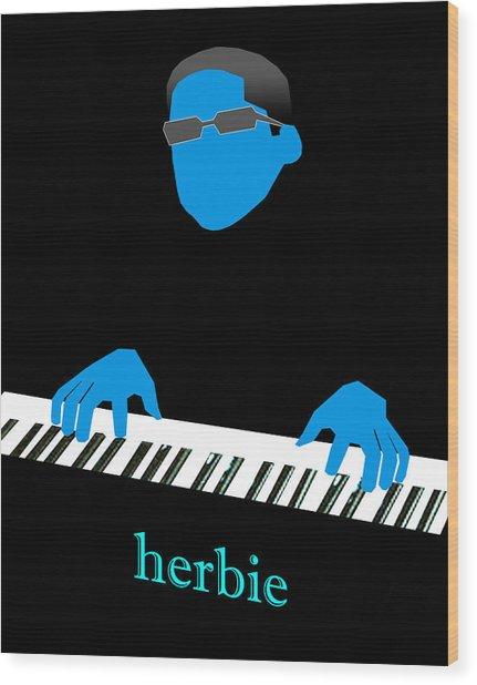 Herbie Blue Wood Print by Victor Bailey