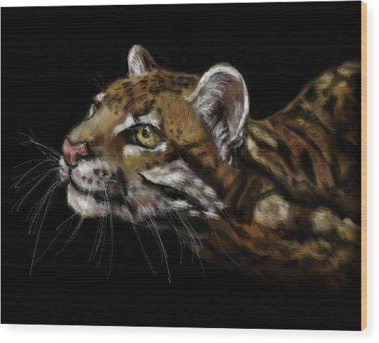 Here Kitty Kitty Wood Print by Lakota Phillips