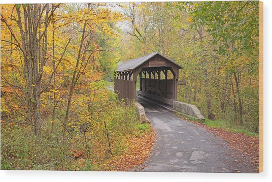 Herns Mill Covered Bridge Wood Print