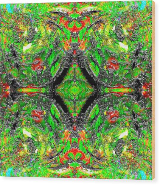 Hexatribe Wood Print by Christian Allen