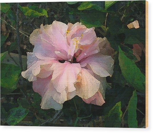 Hibiscus Radiant Wood Print