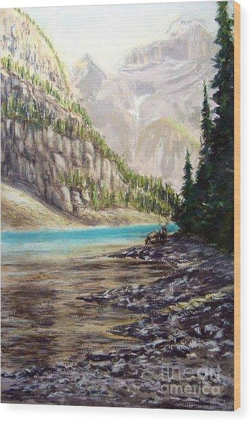 Hidden Gem In The Rockies Wood Print