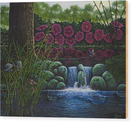 Hiding Duckie Wood Print by Michael Frank