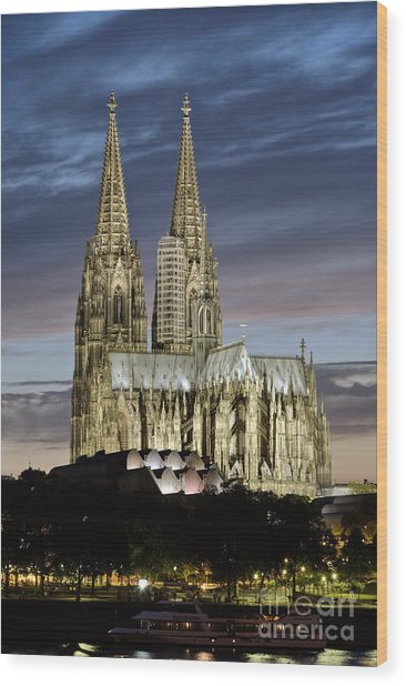 High Cathedral Of Sts. Peter And Mary In Cologne Wood Print