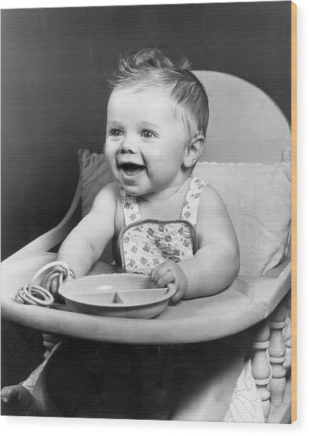 High Chair Hijinks Wood Print by Archive Photos