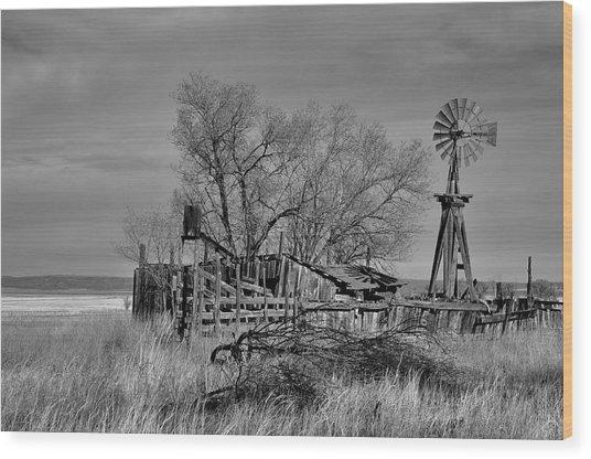 High Plains Wind Wood Print