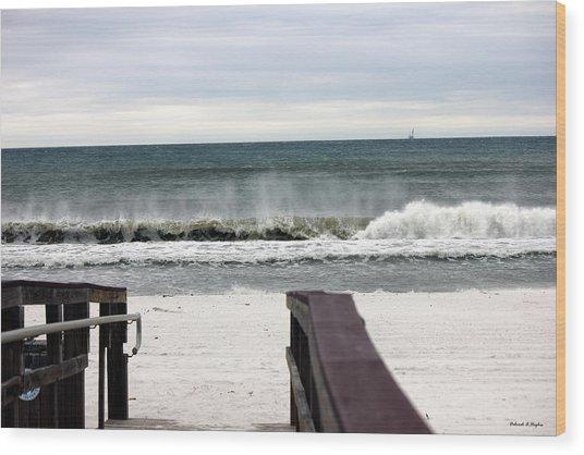 High Surf Wood Print