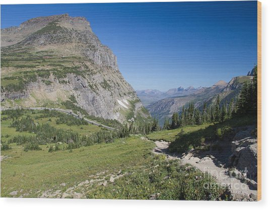 Wood Print featuring the photograph Highline Trail 1 by Katie LaSalle-Lowery