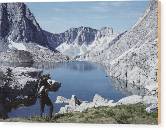 Hiking The High Sierra Wood Print