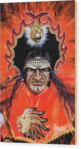 Hispanic Columbus Day Parade Nyc 11 9 11 Wood Print by Robert Ullmann