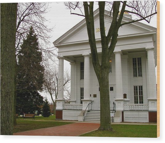Historic Courthouse Wood Print