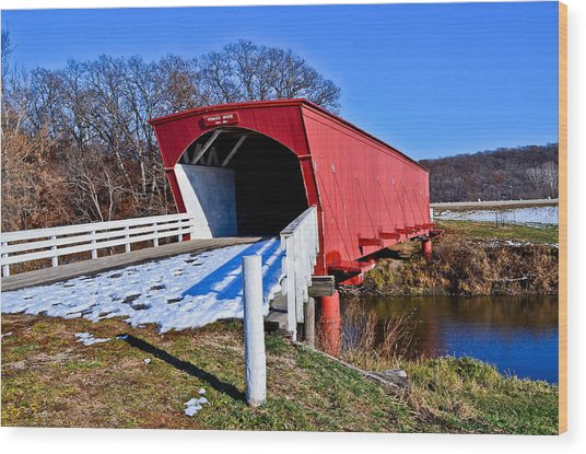 Hogback Covered Bridge Wood Print by Julio n Brenda JnB