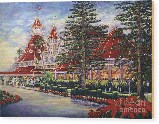 Holiday Hotel Wood Print