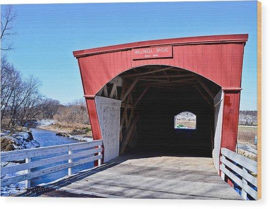 Holliwell Covered Bridge Wood Print by Julio n Brenda JnB