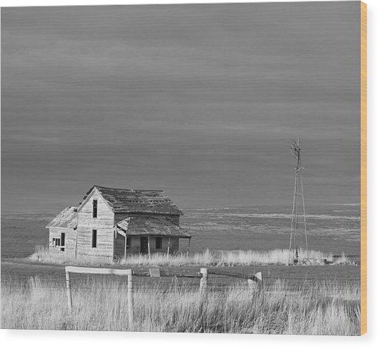 Homestead Wood Print by HW Kateley