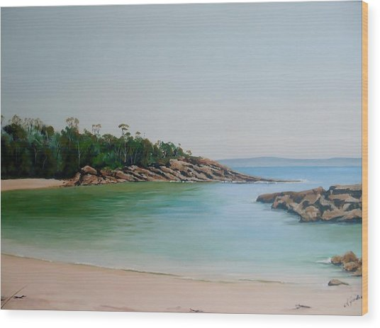 Honeymoon Bay Wood Print
