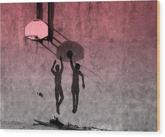 Hoop Boys Wood Print