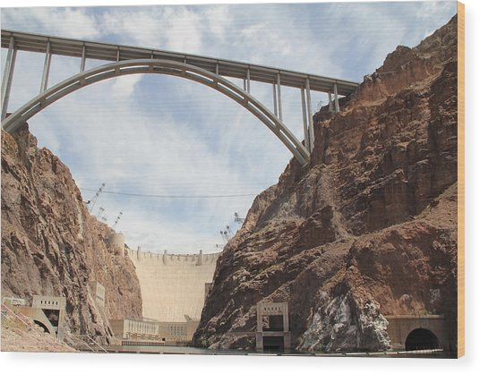 Hoover Dam Wood Print by Kim French
