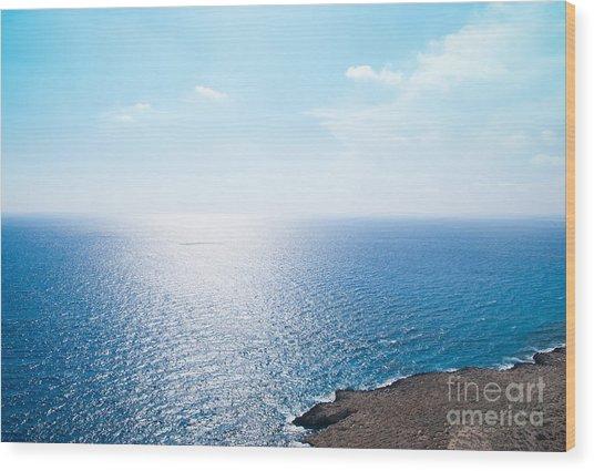 Horizon Wood Print by Boris Suntsov