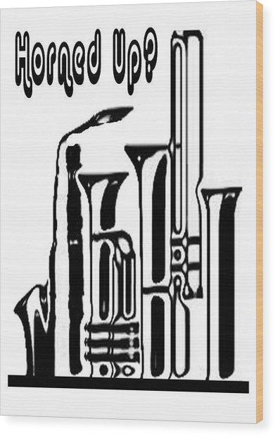 Hornz Card Wood Print