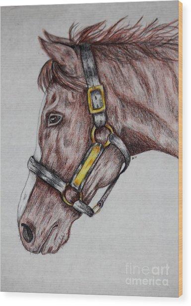 Horse Head 1 Wood Print