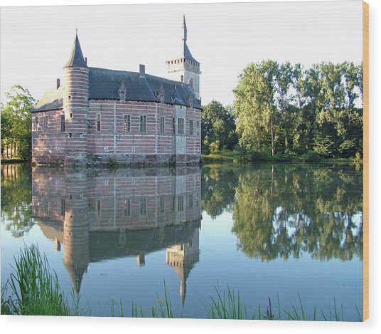 Horst Castle Belgium Wood Print by Joseph Hendrix