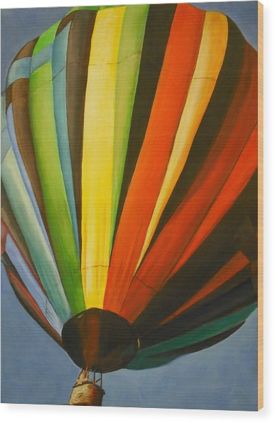 Hot Air Balloon Wood Print by Jessica J Murray