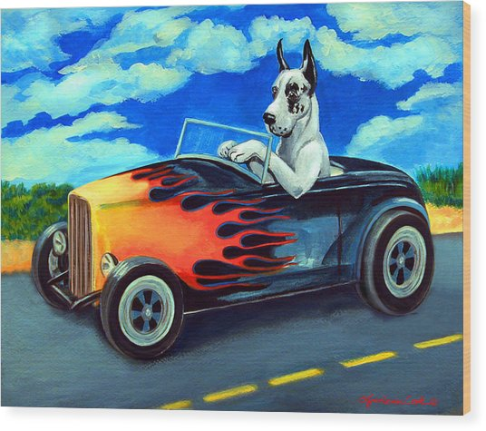Hot Rod Harl Wood Print