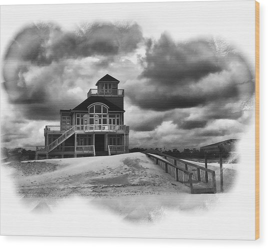 House At The End Of The Road Wood Print