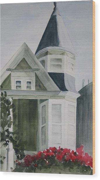 House In San Francisco Wood Print