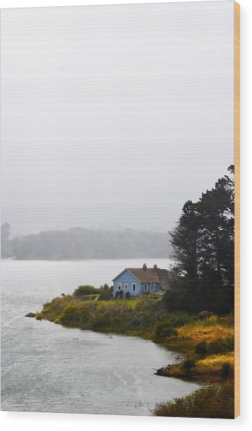 House On The Water - Vertical Wood Print