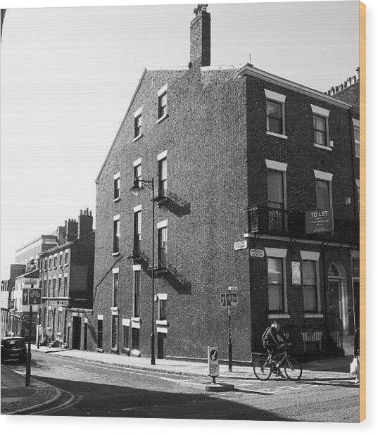 #houses #house #liverpool #streets #uk Wood Print