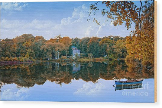 Hoxie Pond Wood Print