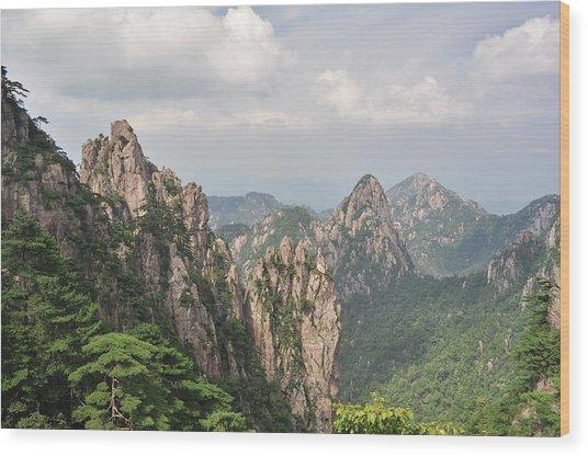 Huangshan Granite 1 Wood Print