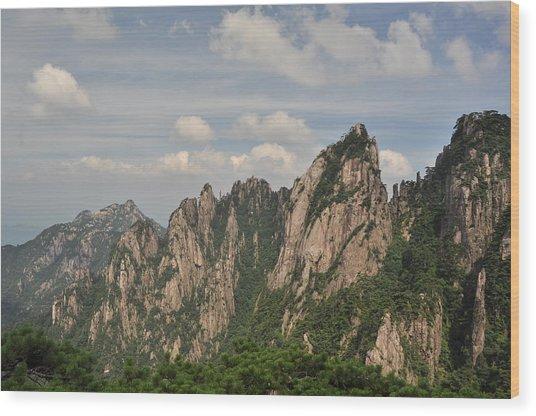 Huangshan Granite 2 Wood Print