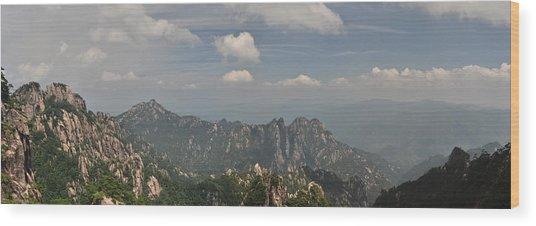 Huangshan Panorama 1 Wood Print