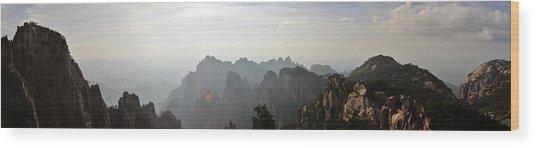 Huangshan Panorama 4 Wood Print
