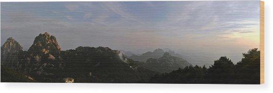 Huangshan Panorama 5 Wood Print