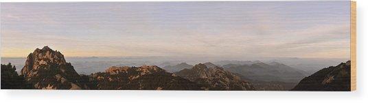 Huangshan Sunrise Panorama 2 Wood Print
