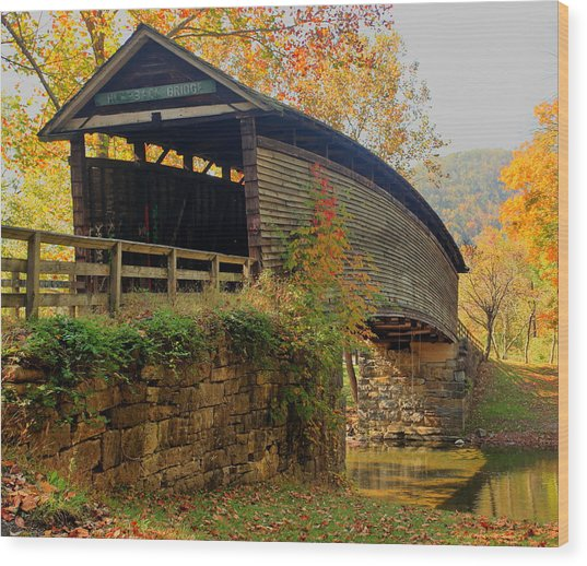 Humpback Covered Bridge Wood Print