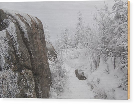 Hurricane Mt In Winter Wood Print