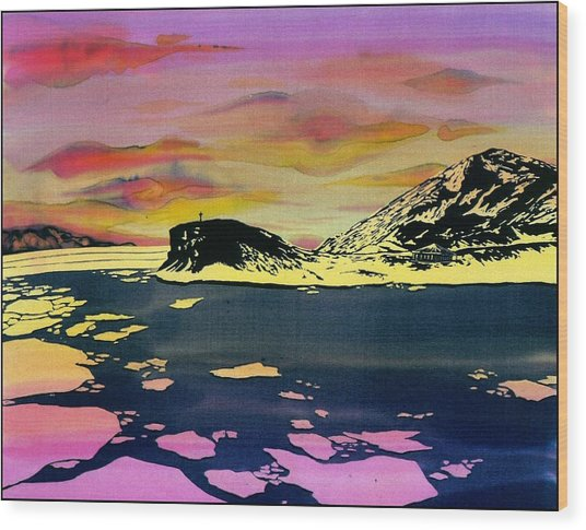 Hut Point Antarctica Wood Print by Carolyn Doe