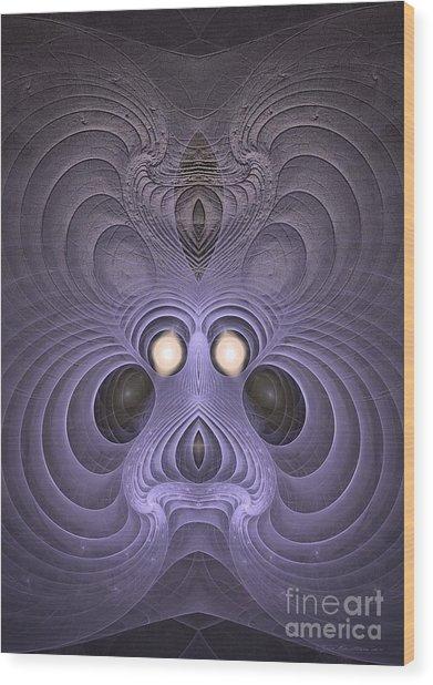 Hypnotized Wood Print