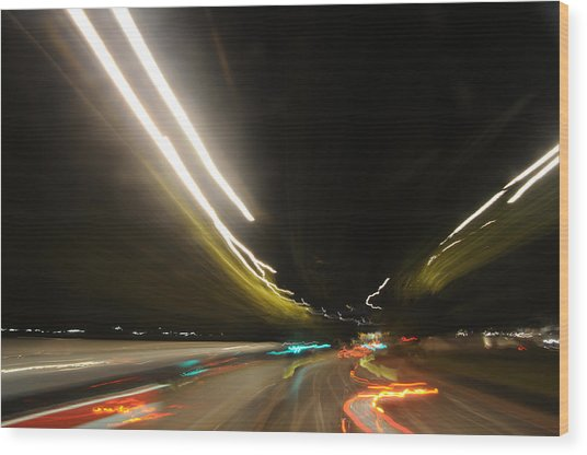 I Dreamed Of Driving At Night Wood Print by George Crawford