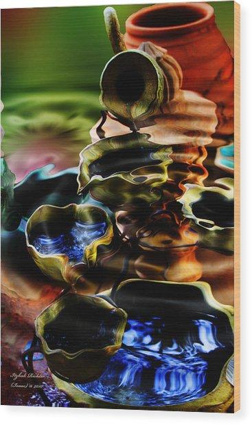 I Flow Wood Print