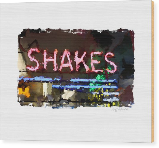 I Got The Shakes Wood Print by Geoff Strehlow