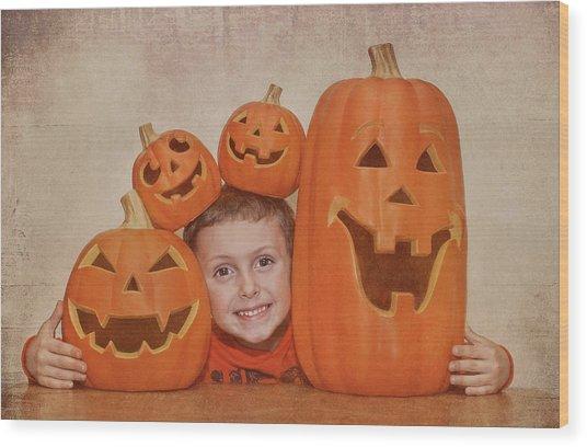 I Love Pumpkins Wood Print by Pat Abbott