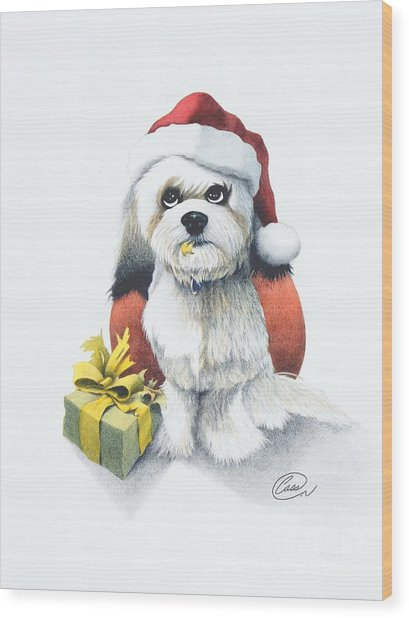 I Rove Christmas Wood Print by Albert Casson